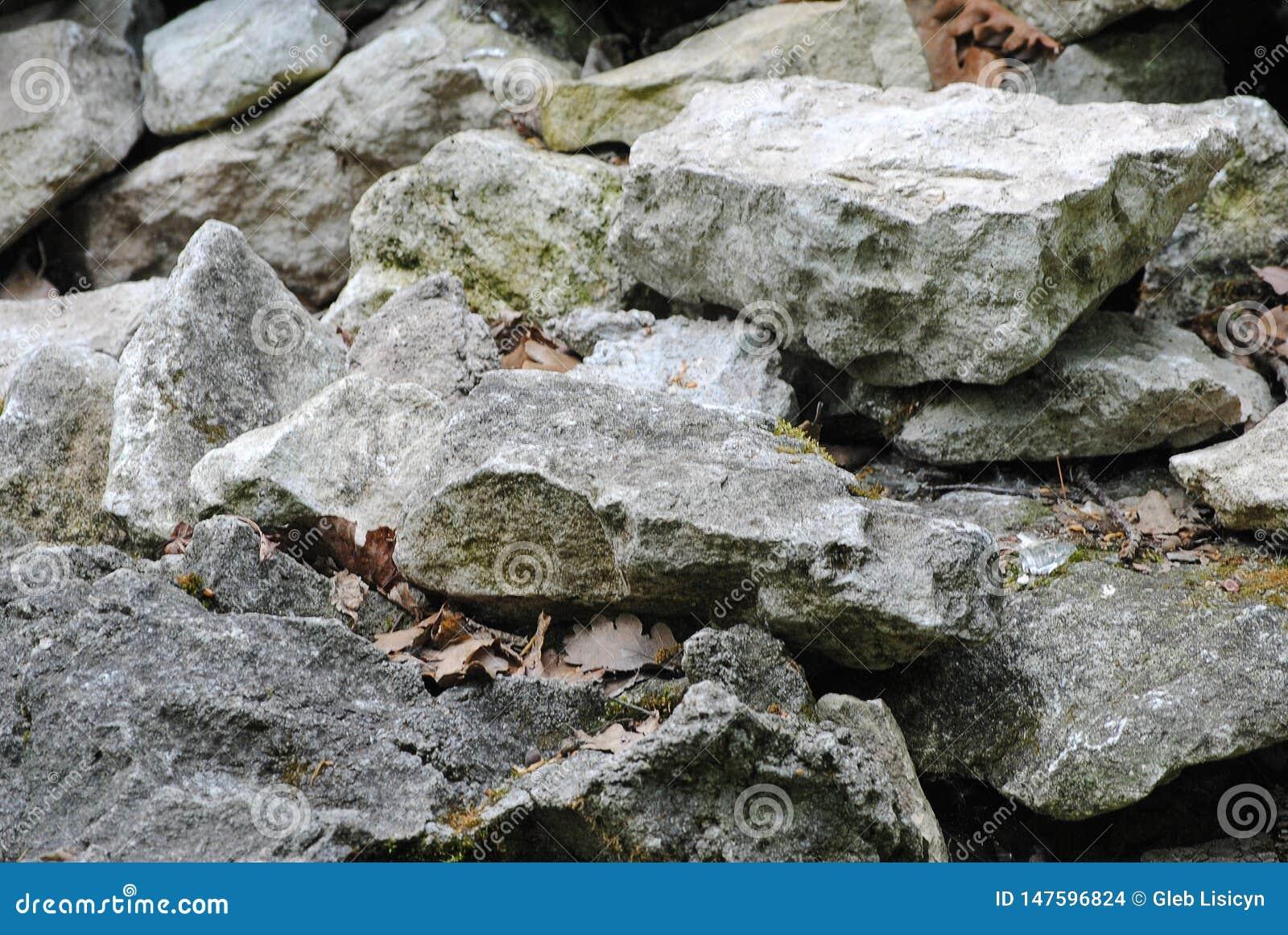 Κινηματογράφηση σε πρώτο πλάνο πετρών σύσταση πετρών