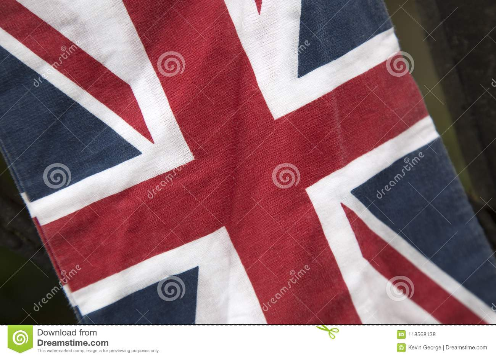 Κινηματογράφηση σε πρώτο πλάνο της σημαίας του Union Jack