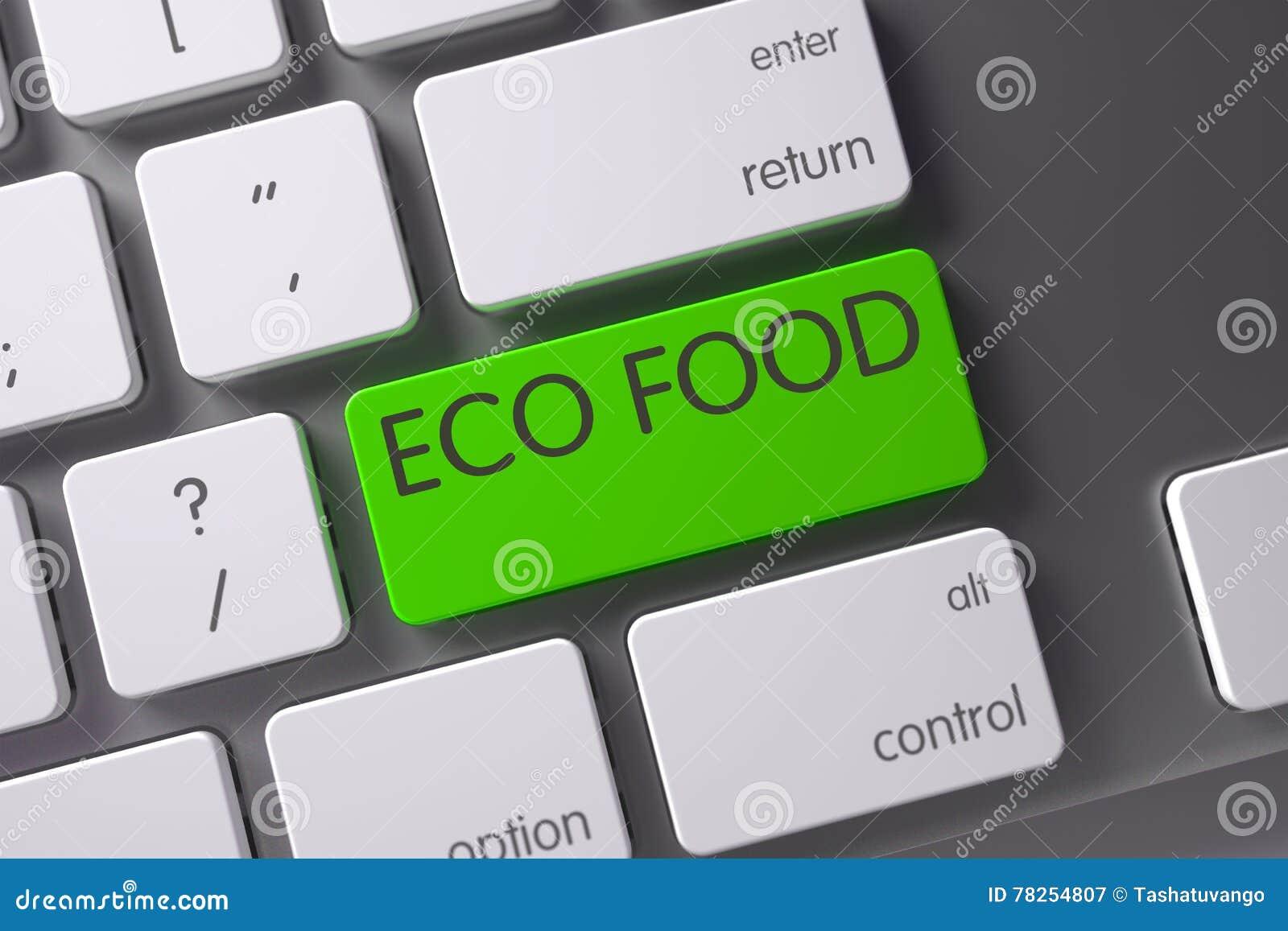 Κινηματογράφηση σε πρώτο πλάνο τροφίμων Eco του πληκτρολογίου τρισδιάστατος