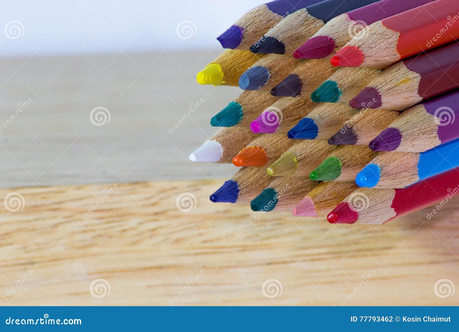 Κινηματογράφηση σε πρώτο πλάνο υποβάθρου μολυβιών χρώματος