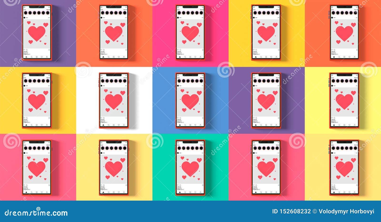 Κινητή προτύπων επίπεδη ύφους μετα διεπαφή app δικτύων προτύπων κοινωνική