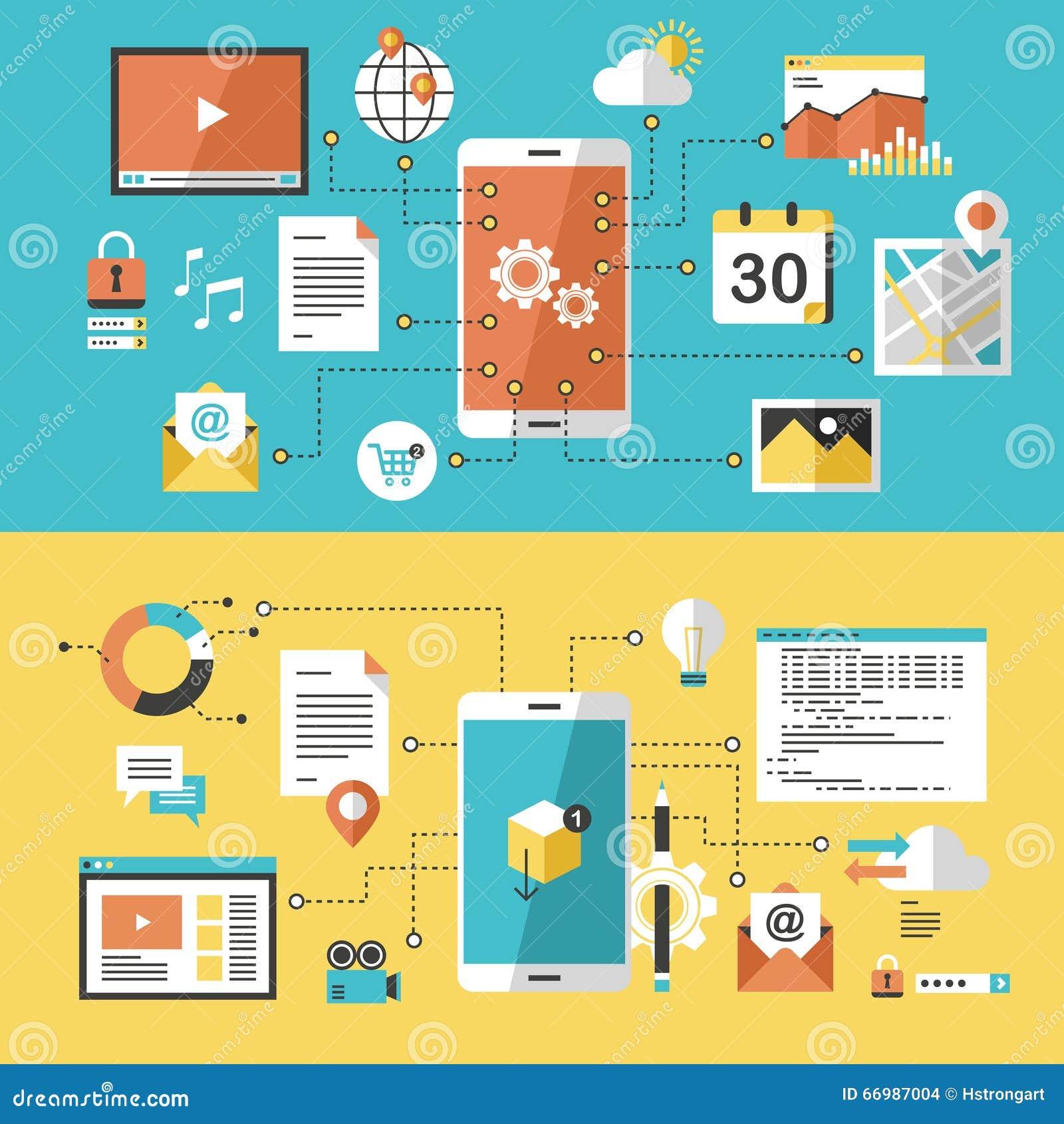 Κινητός ιστοχώρος και app σχέδιο