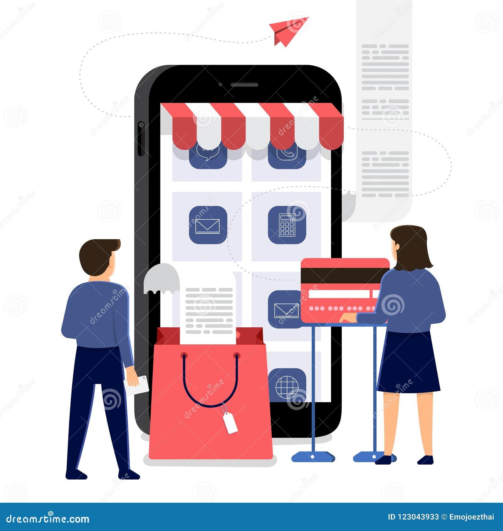 Κινητό εμπόριο on-line αγορών