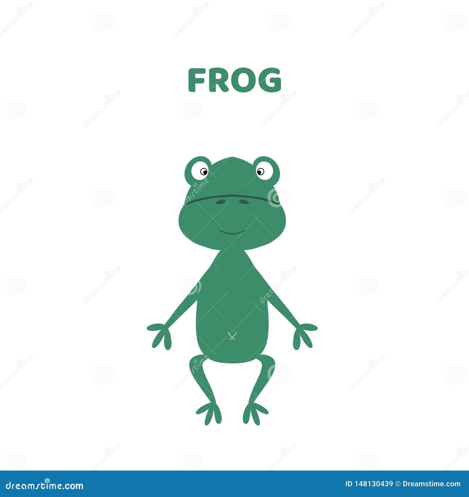 Κινούμενα σχέδια ένας χαριτωμένος και αστείος βάτραχος