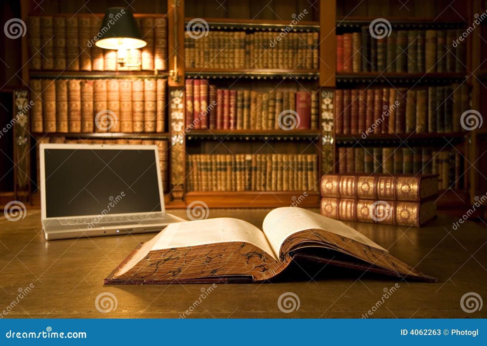 κλασική βιβλιοθήκη lap-top