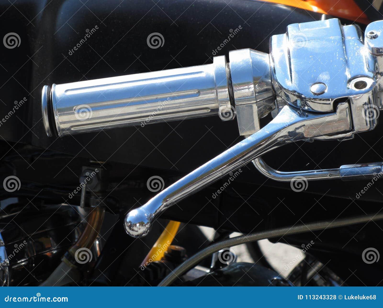 Κλασικοί πιάσιμο χεριών χρωμίου μοτοσικλετών και μοχλός φρένων