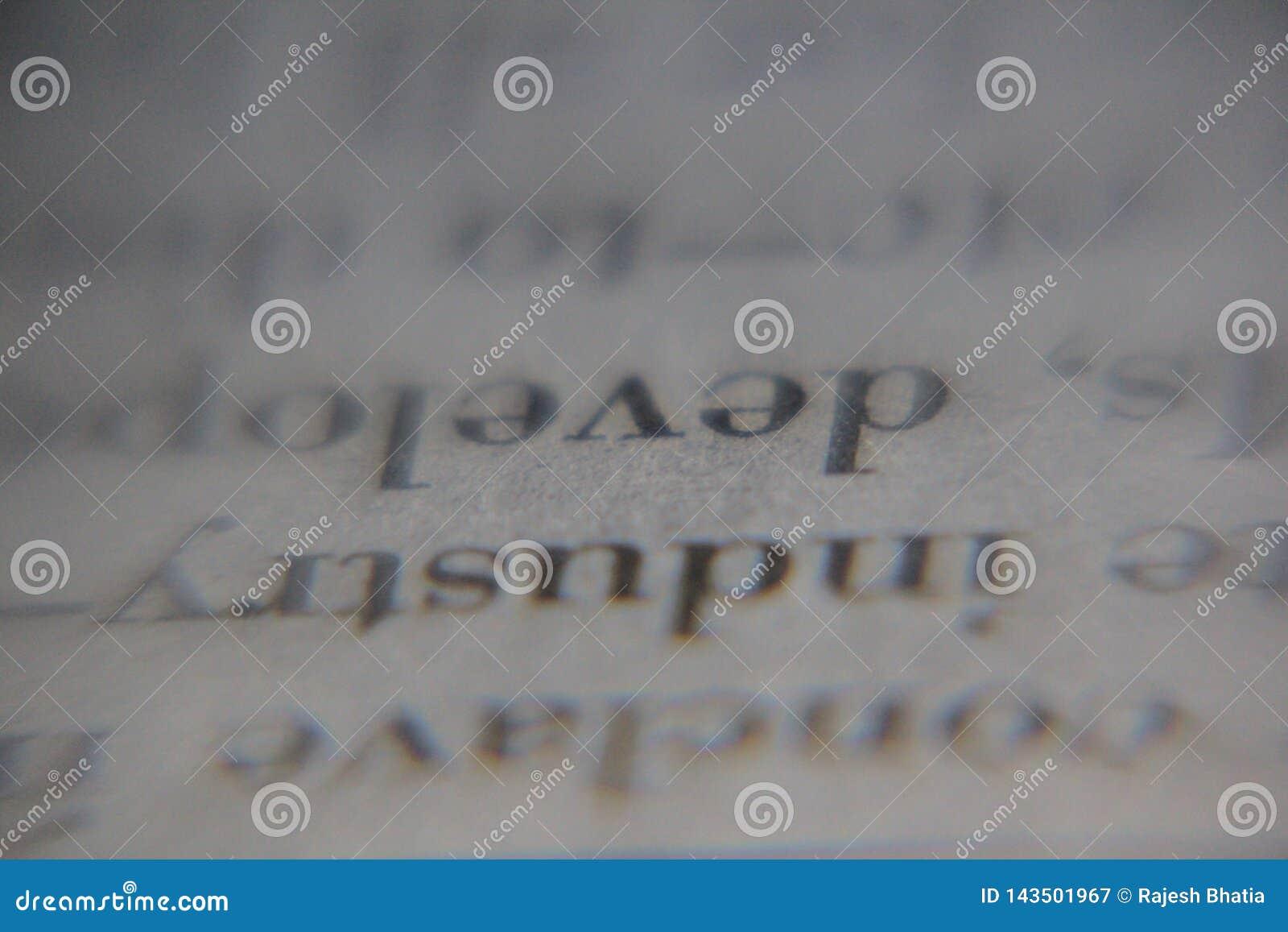 Κλείστε επάνω των λέξεων γραπτών