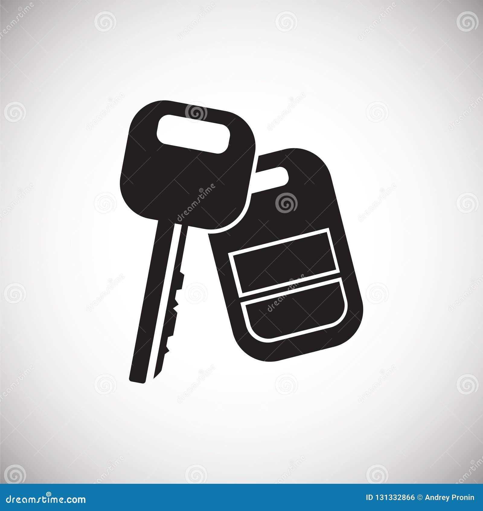 Κλειδί αυτοκινήτων με το συναγερμό στο άσπρο υπόβαθρο