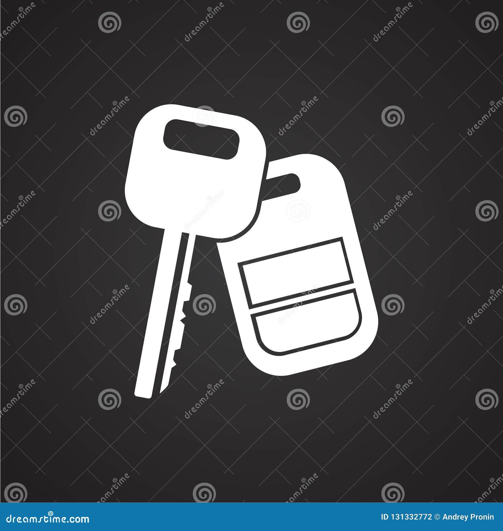 Κλειδί αυτοκινήτων με το συναγερμό στο μαύρο υπόβαθρο