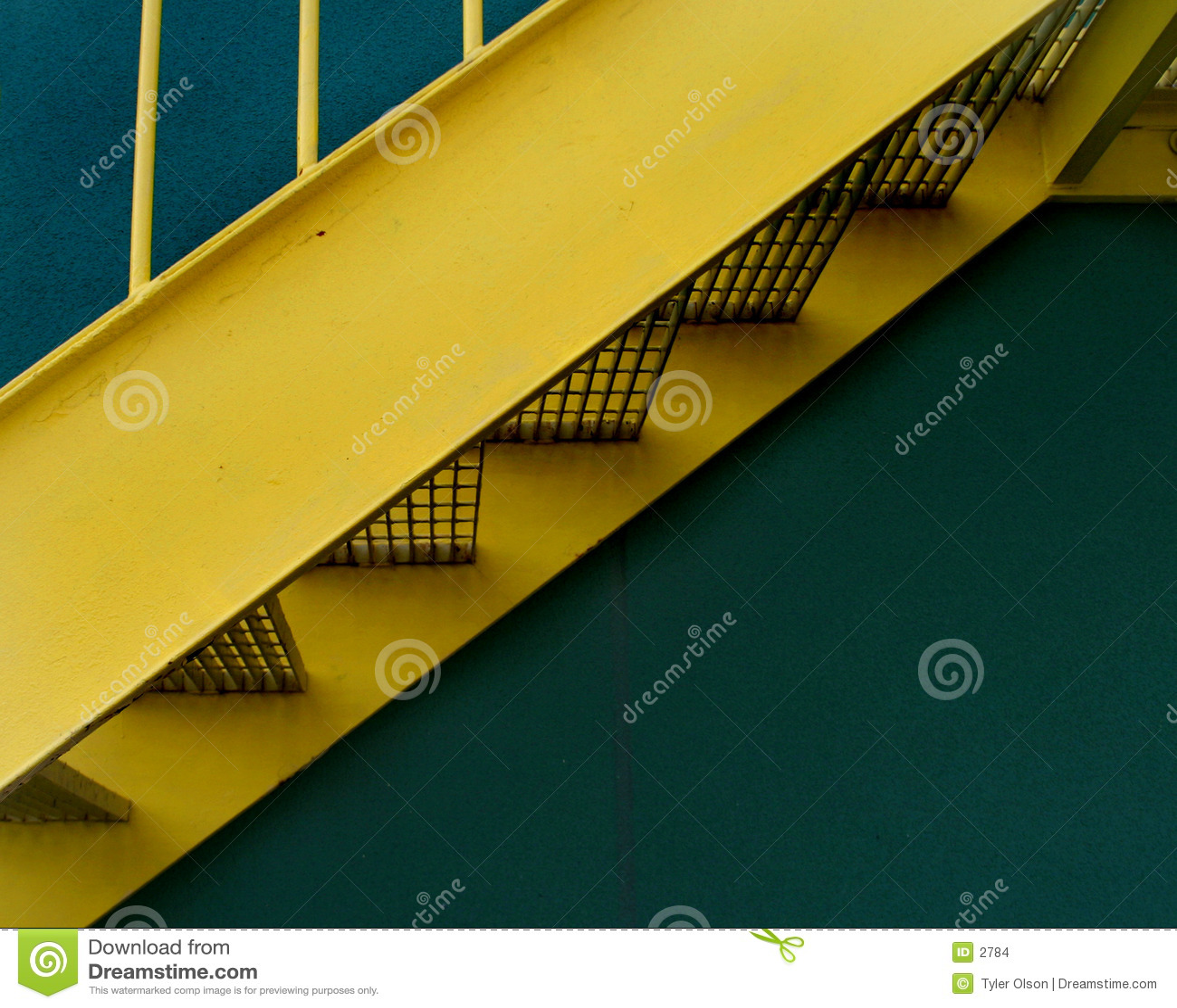 κλιμακοστάσιο κίτρινο