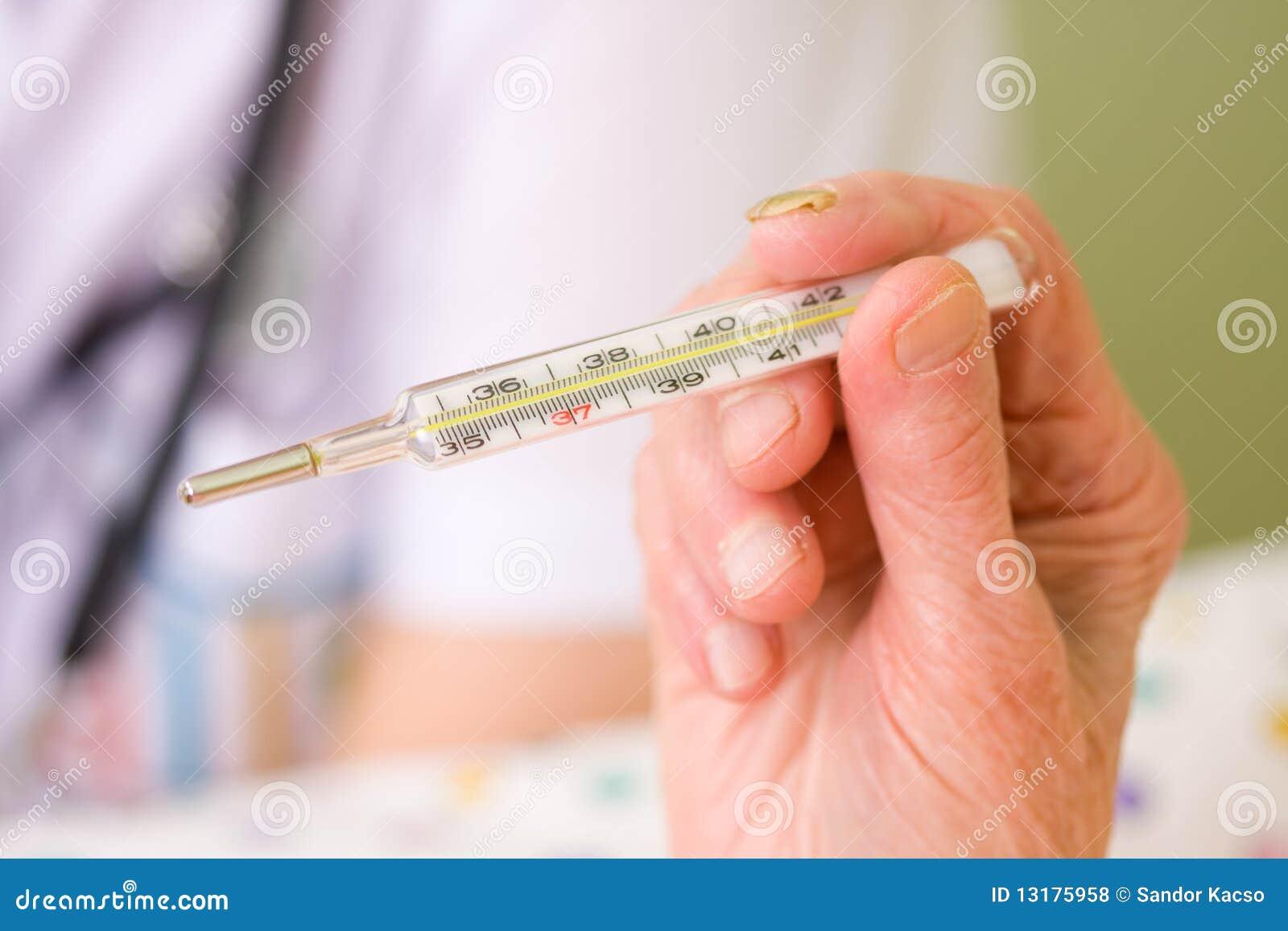 κλινικό ηλικιωμένο θερμόμ&e