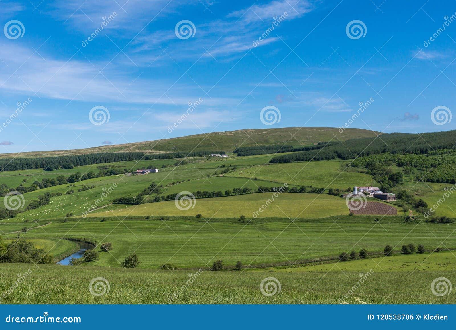 Κοιλάδα από Drumlanrig Castle, Dumfriesshire, Σκωτία UK