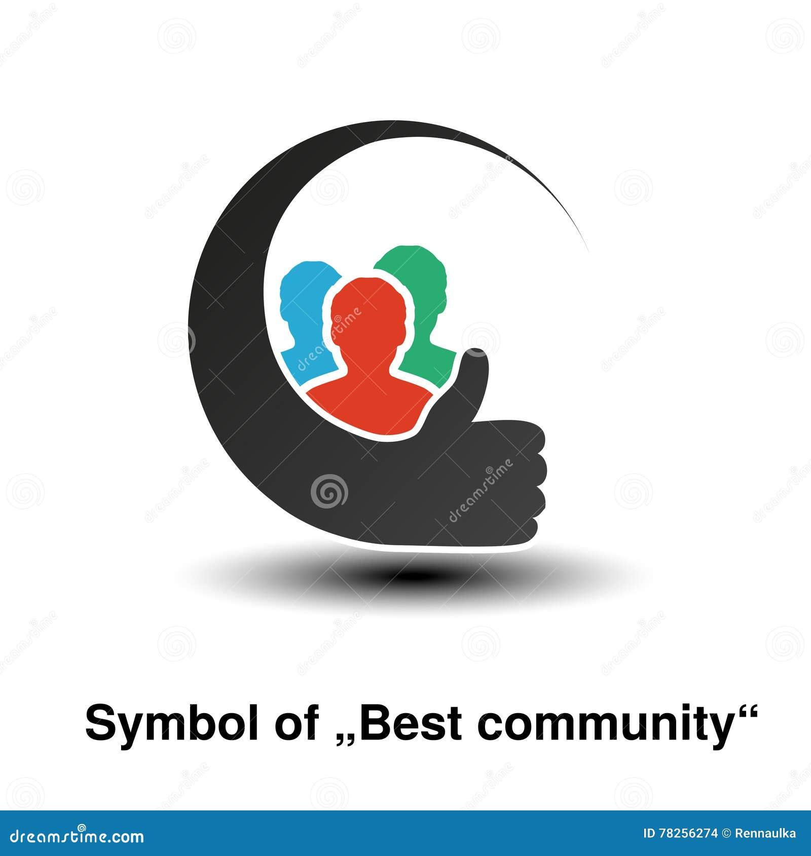 Κοινοτικά σύμβολα Απλές σκιαγραφίες του ατόμου με την καλύτερη χειρονομία επιλογής Κυκλικές ετικέτες σχεδιαγράμματος Σημάδι του μ
