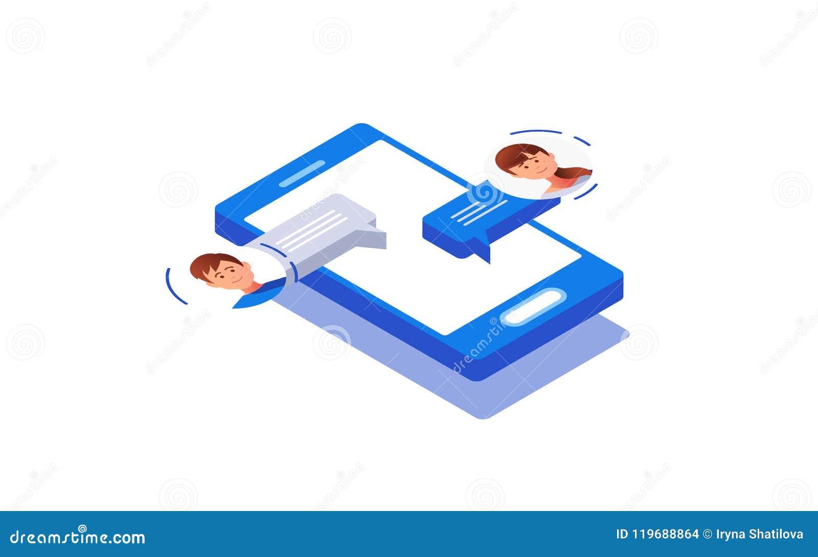 Κοινωνική έννοια δικτύωσης chatting