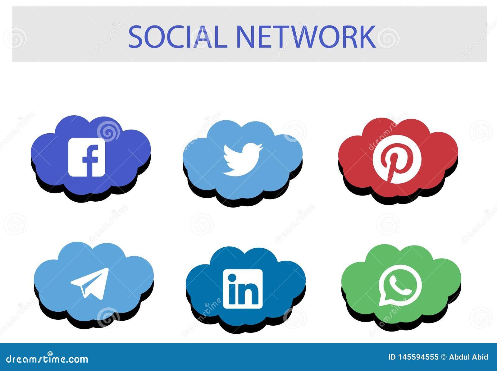 Κοινωνική συσκευασία εικονιδίων δικτύων: Τοπ εμπορικό σήμα των κοινωνικών μέσων