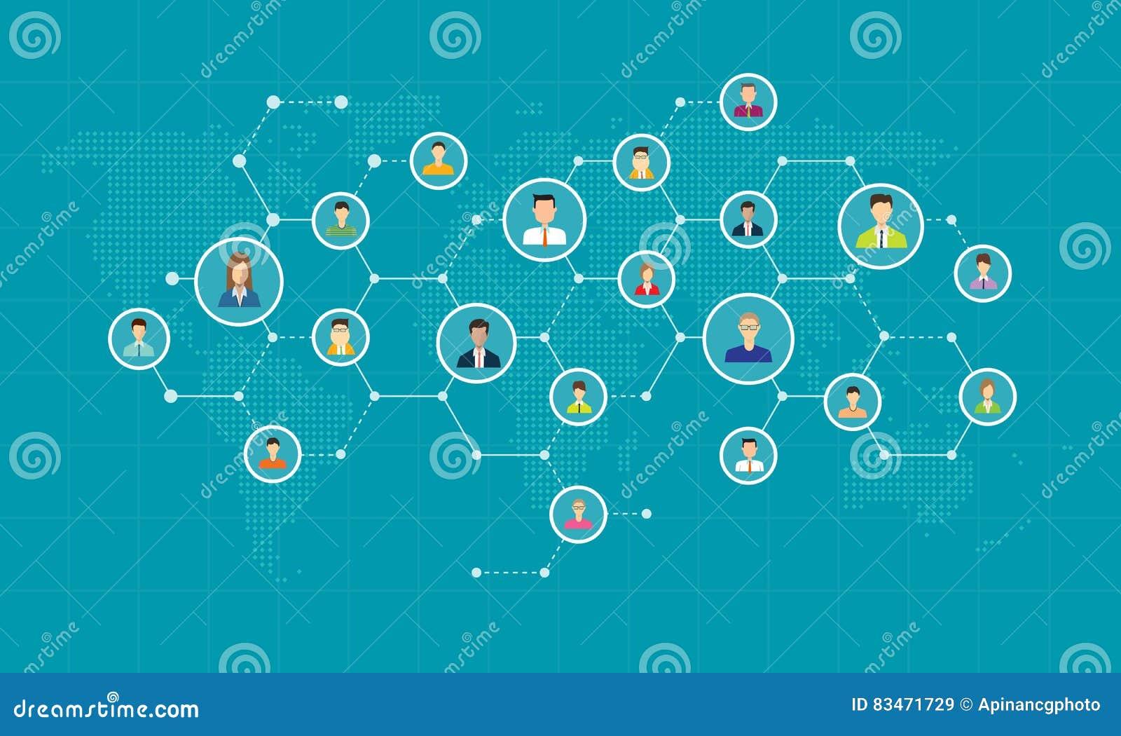 Κοινωνική σύνδεση δικτύων για το σε απευθείας σύνδεση επιχειρησιακό υπόβαθρο