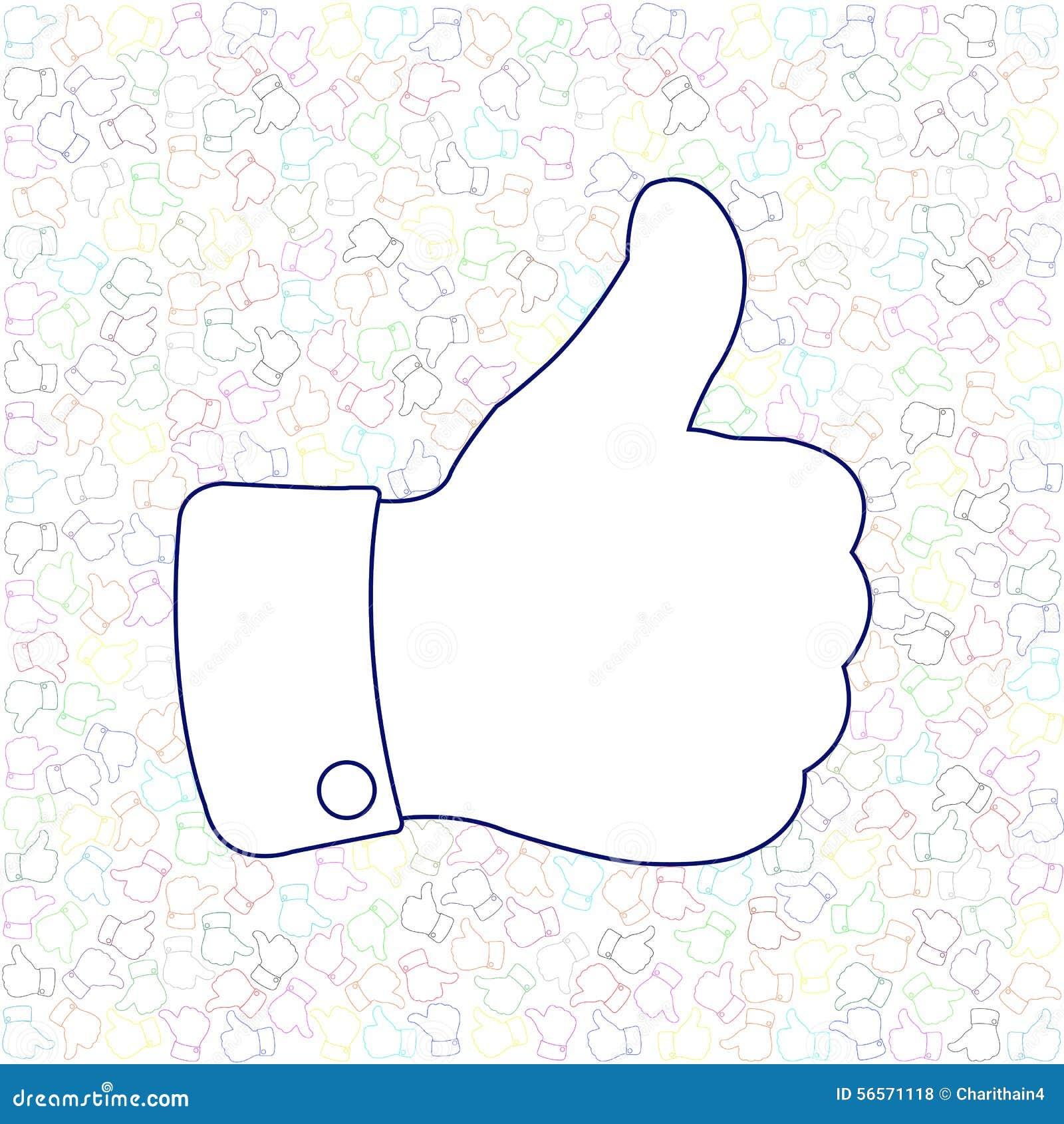 Download Κοινωνικός αντίχειρας μέσων επάνω όπως το υπόβαθρο Διανυσματική απεικόνιση - εικονογραφία από ιδέα, ευτυχής: 56571118