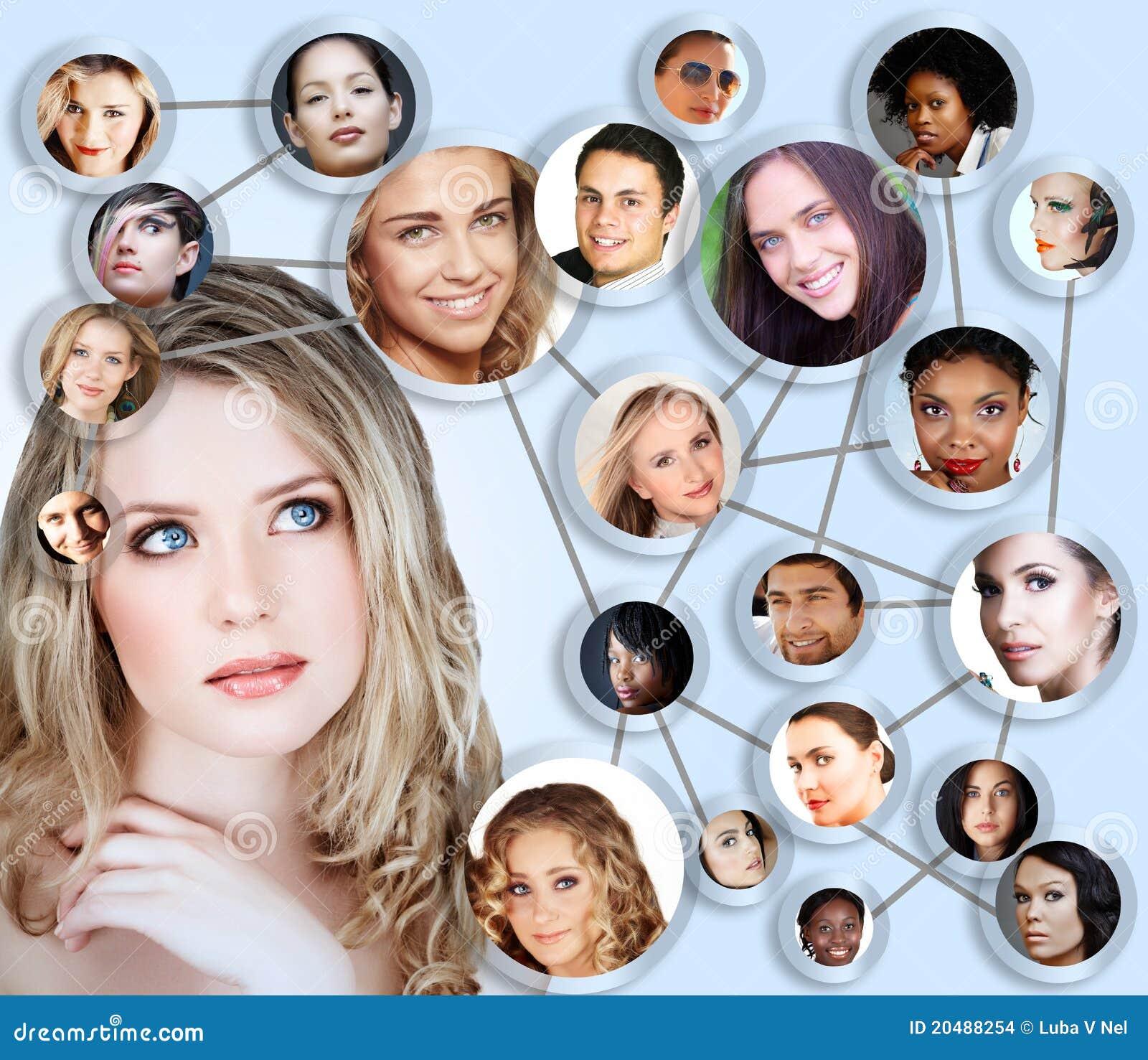 Κοινωνικό κολάζ έννοιας μέσων δικτύων