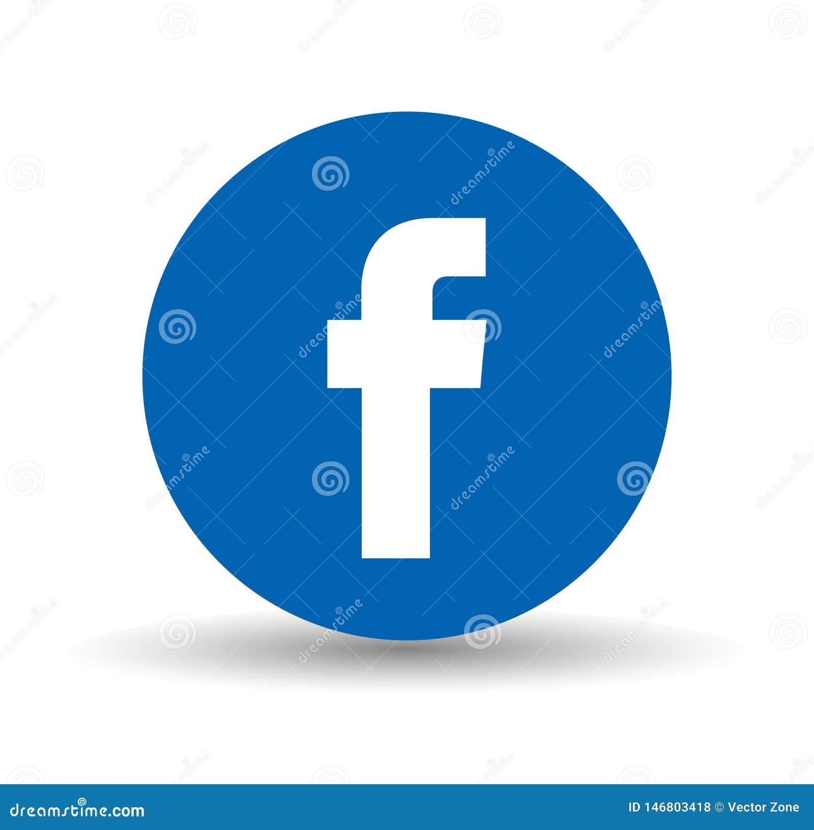 Κοινωνικό λογότυπο MEDIA Facebook στον κύκλο