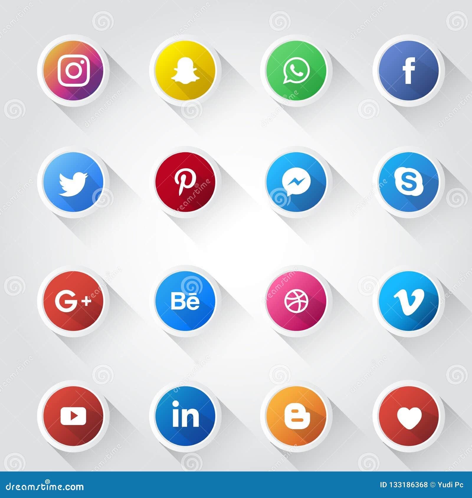 Κοινωνικό πρότυπο σχεδίου εικονιδίων μέσων