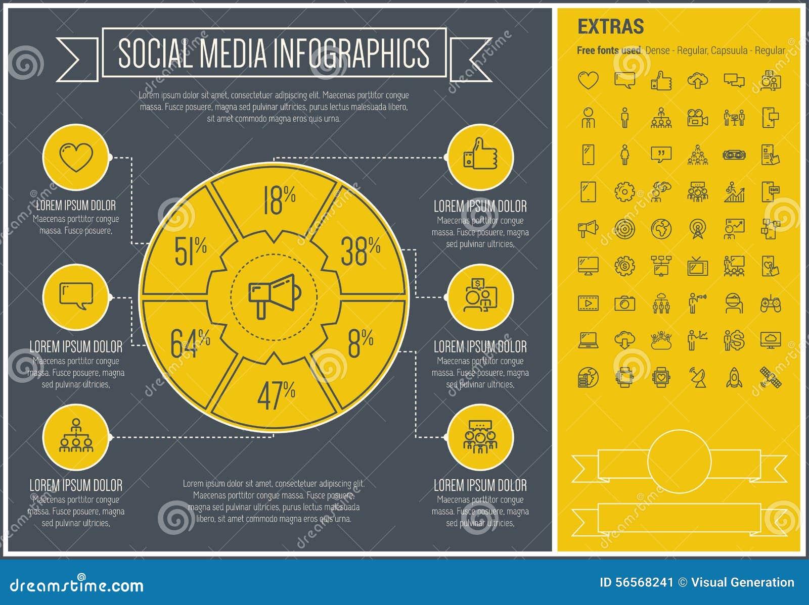 Download Κοινωνικό πρότυπο Infographic σχεδίου γραμμών μέσων Διανυσματική απεικόνιση - εικονογραφία από στοιχεία, σύνδεση: 56568241