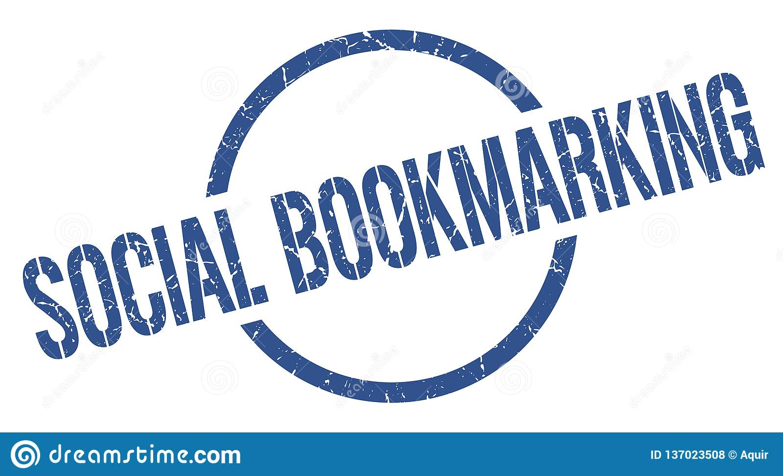 κοινωνικό bookmarking γραμματόσημο