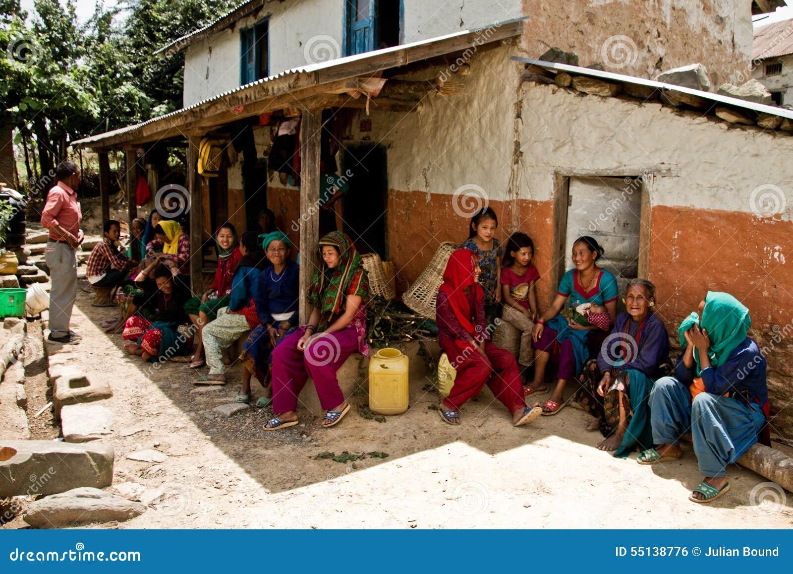 Κοινότητα του χωριού Chhaimale, νότος 29km του Κατμαντού, Νεπάλ