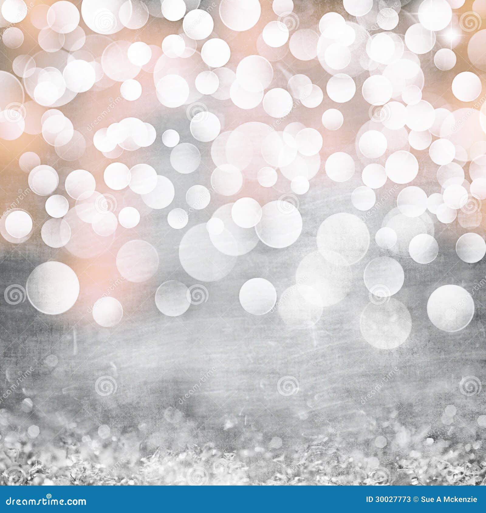 Κομψός ασημένιος, χρυσός, ρόδινος τρύγος φω των Χριστουγέννων Grunge