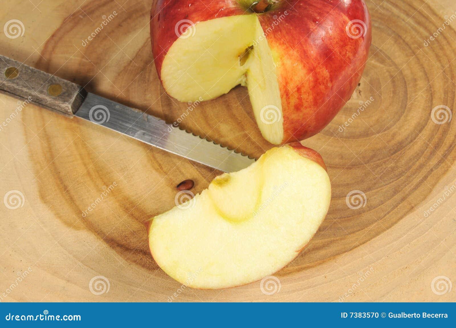 κοπή χαρτονιών μήλων φρέσκι&alph