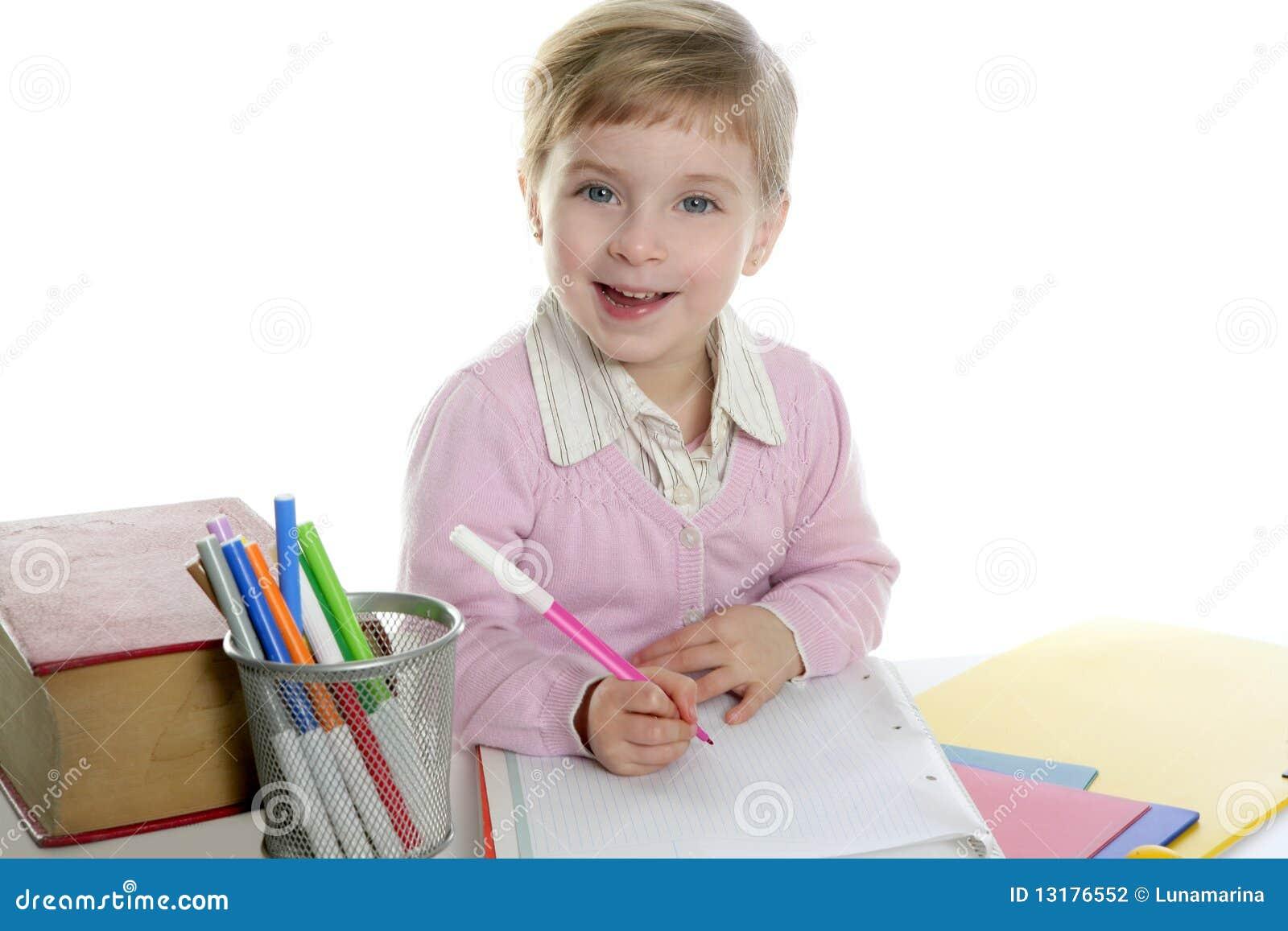 κορίτσι γραφείων ευτυχέ&sigm