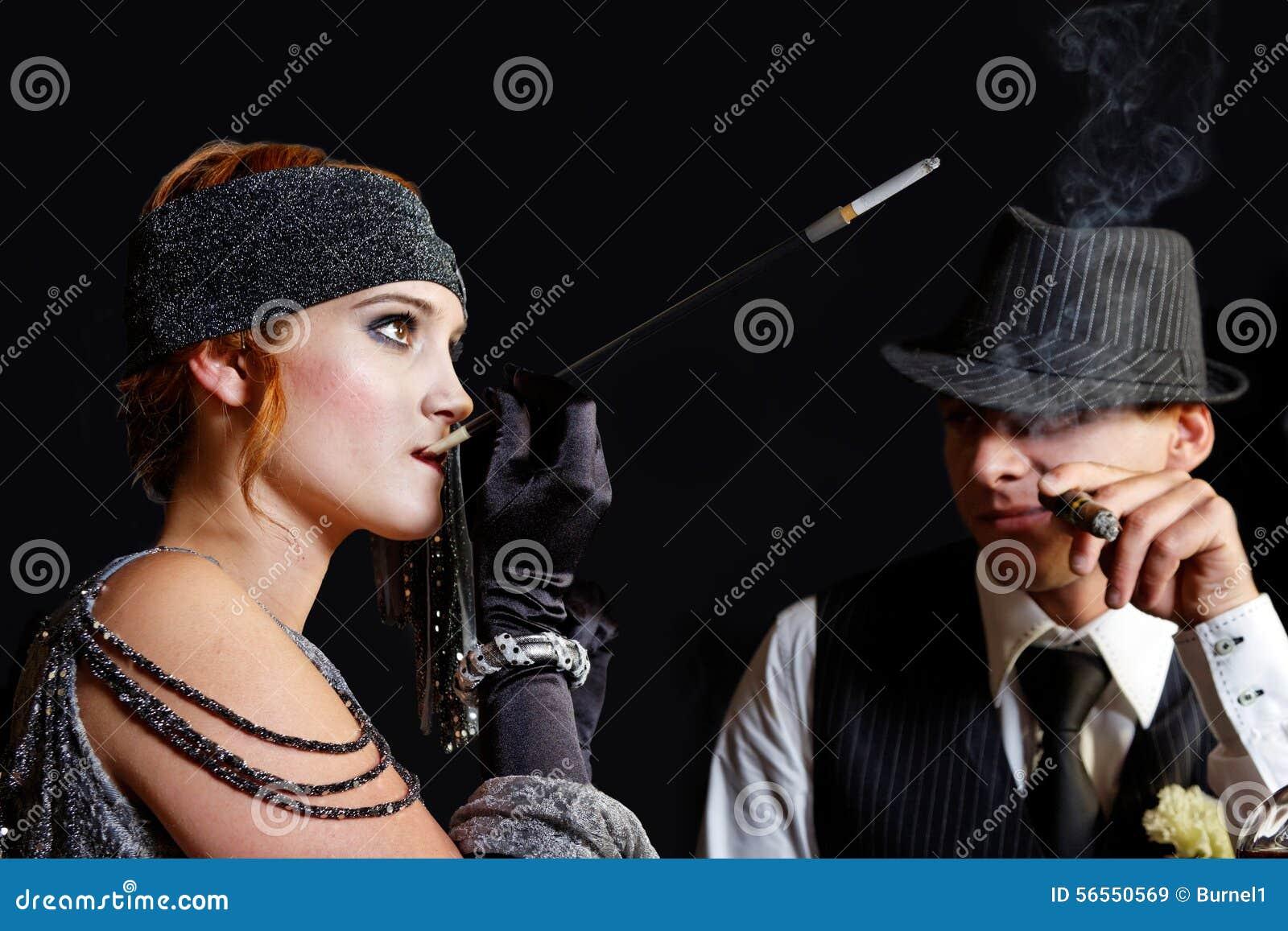Download Κορίτσι και γκάγκστερ πτερυγίων Στοκ Εικόνα - εικόνα από πτερύγιο, γοητεία: 56550569