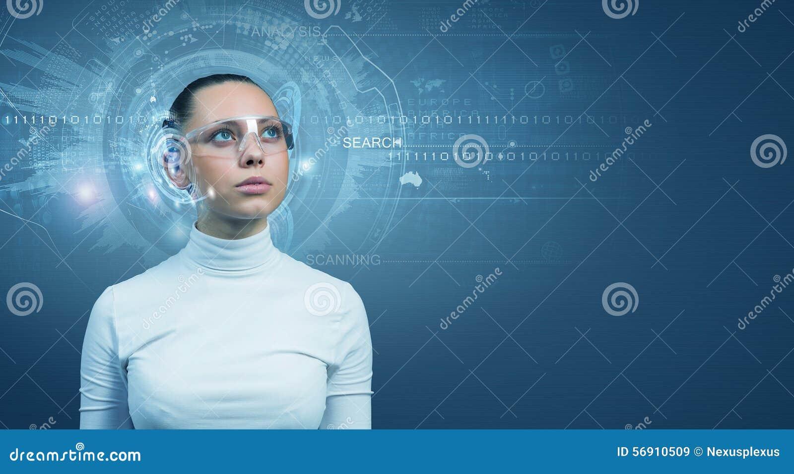 Κορίτσι και τεχνολογίες του μέλλοντος
