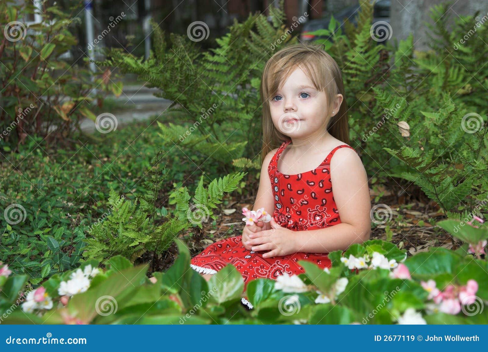 κορίτσι λουλουδιών σπ&omicro