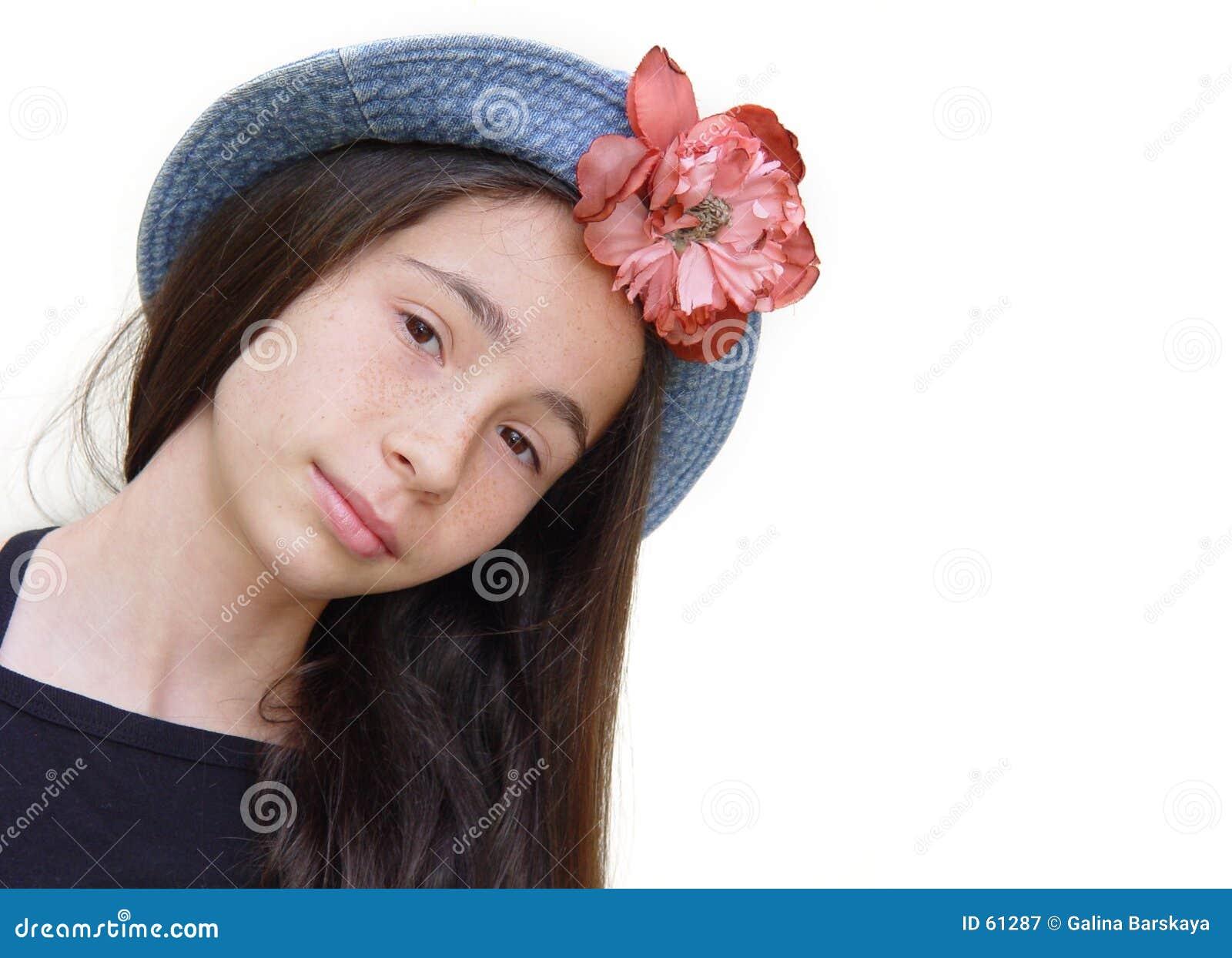 Download κορίτσι πορτών επόμενο στοκ εικόνα. εικόνα από χαμόγελα - 61287