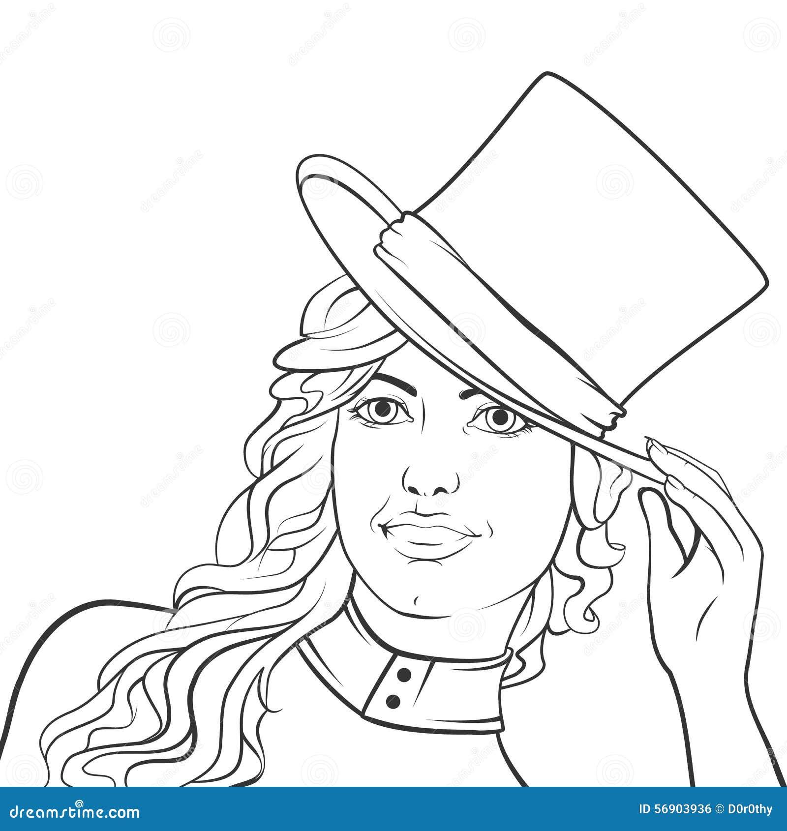Κορίτσι σε ένα καπέλο