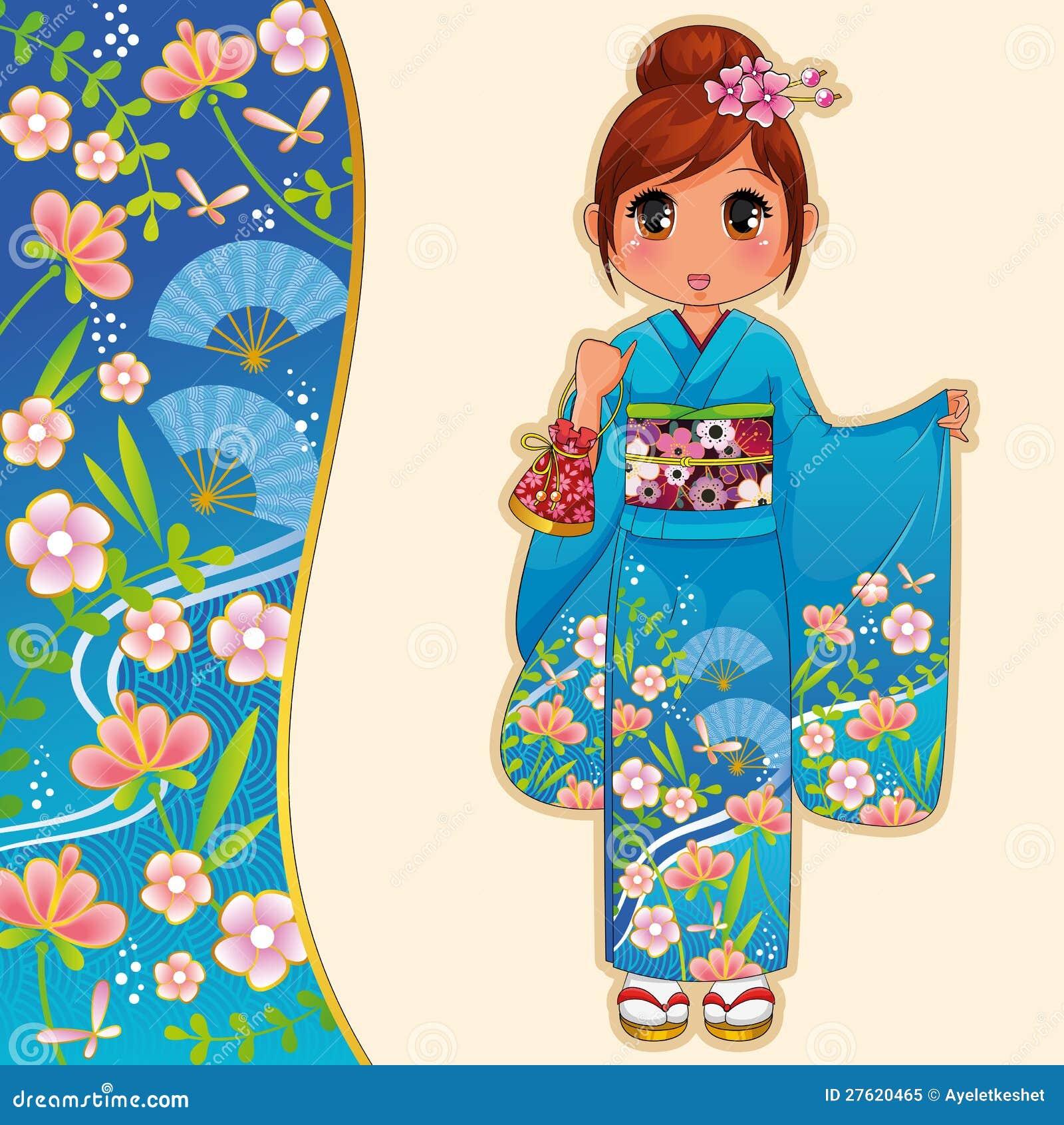 Κορίτσι στο κιμονό