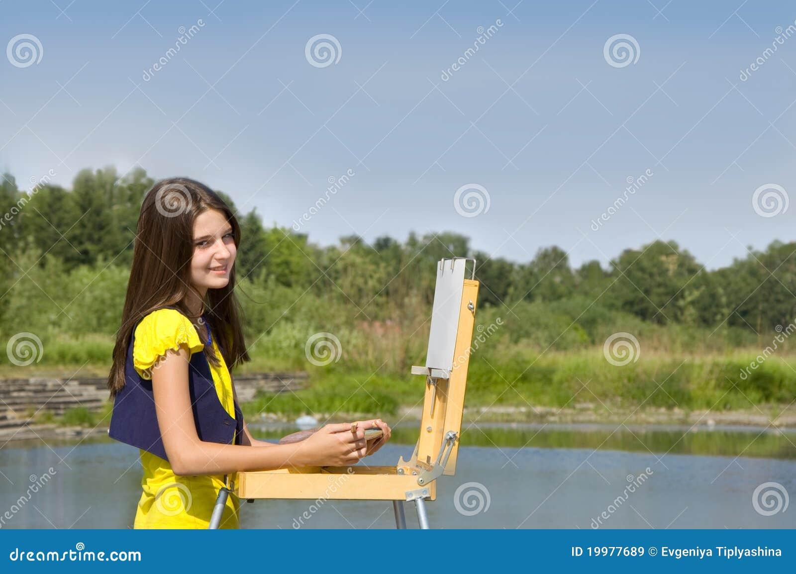 κορίτσι σχεδίων αέρα ανοι&