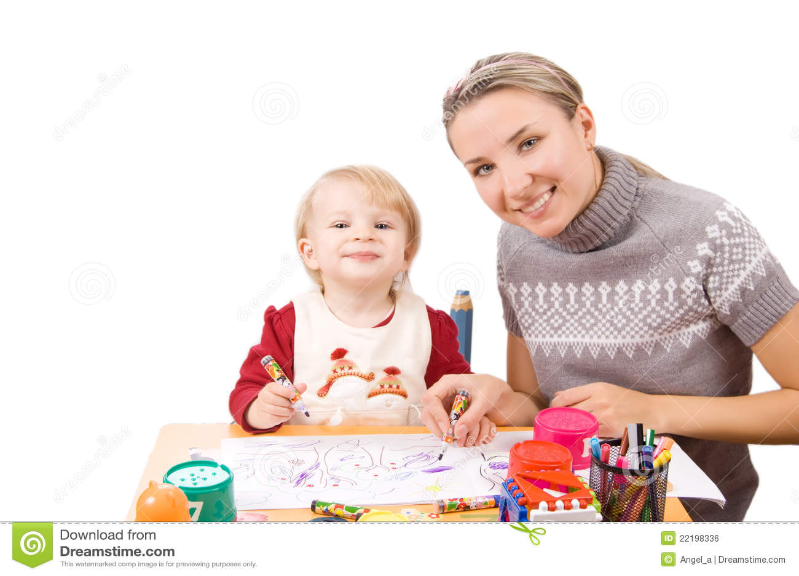 κορίτσι σχεδίων η μητέρα τη&sig