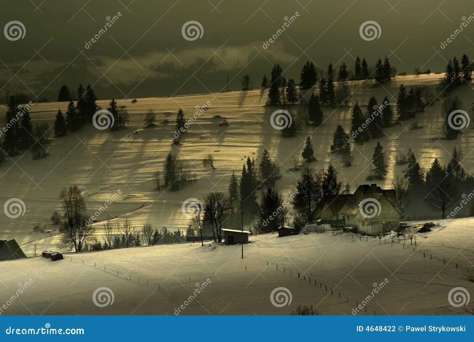 κορυφογραμμή αγροτικών βουνών