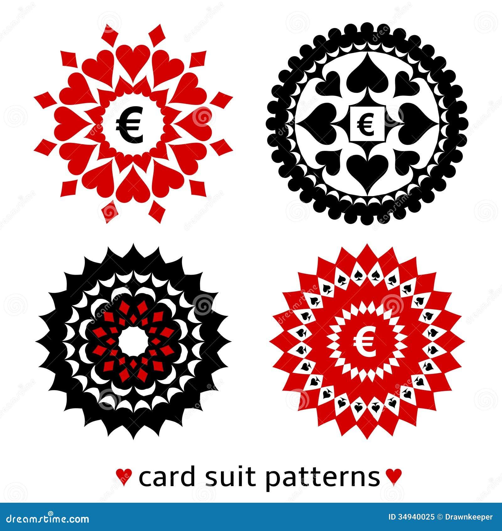 Κοστούμι τεσσάρων καρτών γύρω από τα σχέδια