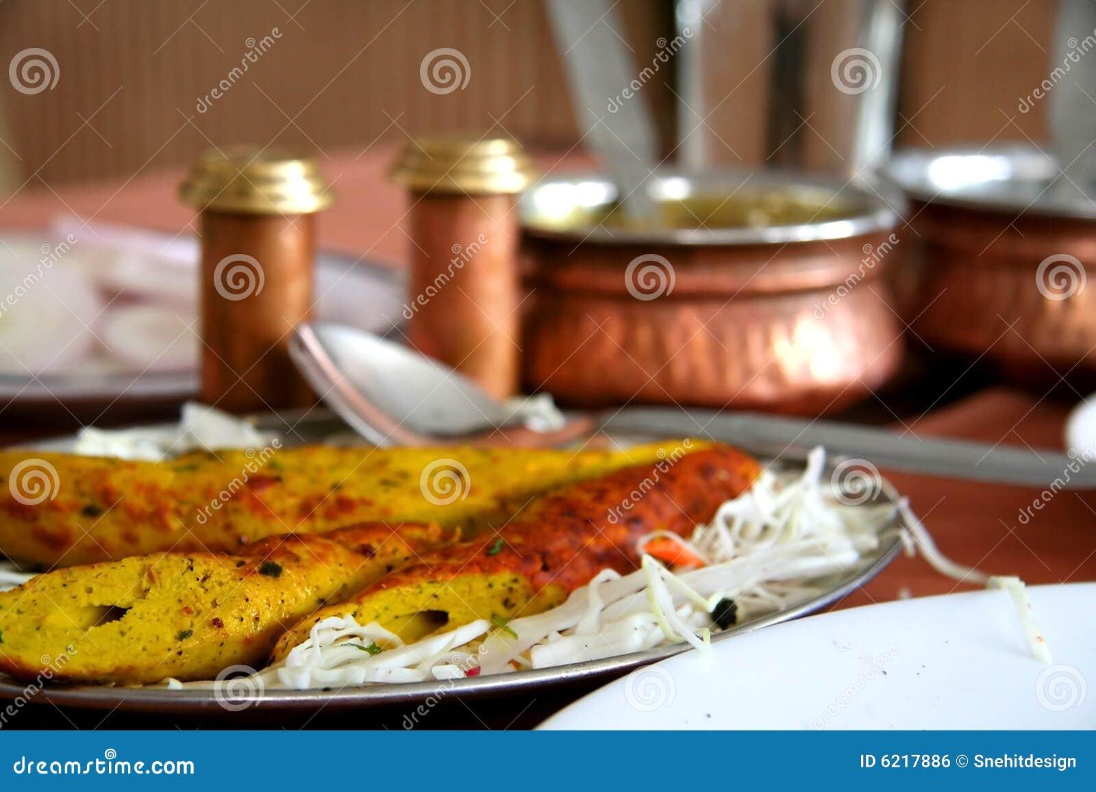 κοτόπουλο biryani kebabs