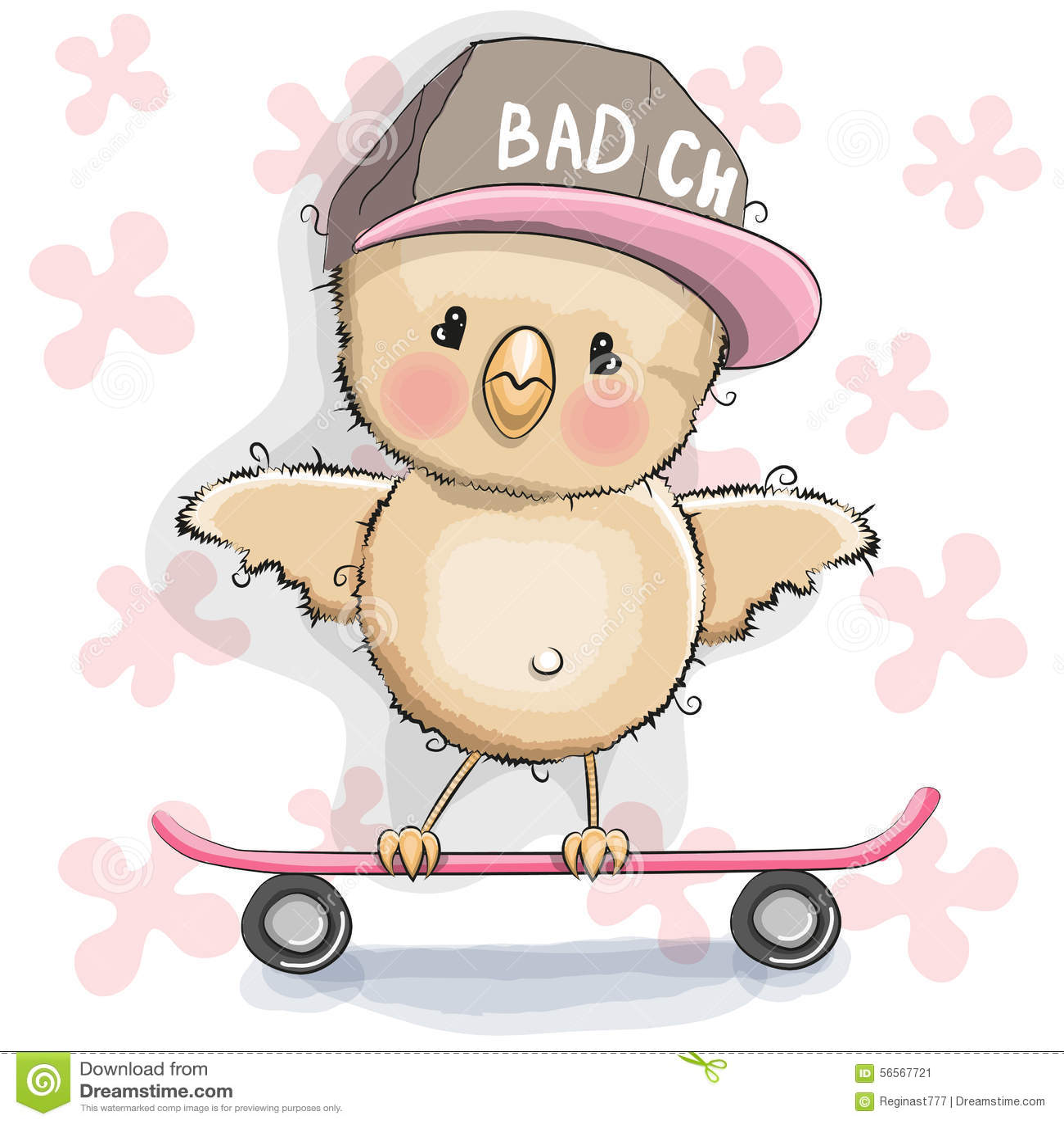 Download Κοτόπουλο με skateboard διανυσματική απεικόνιση. εικονογραφία από κοτόπουλο - 56567721