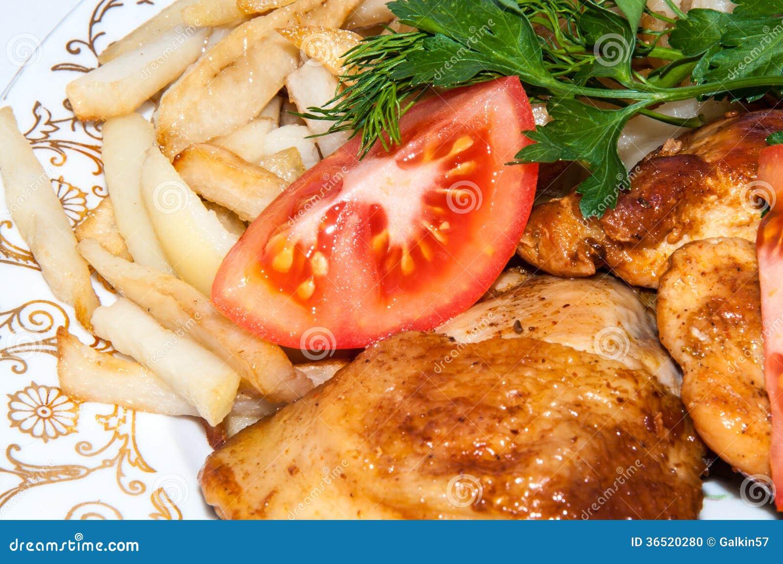 Κοτόπουλο που τηγανίζεται