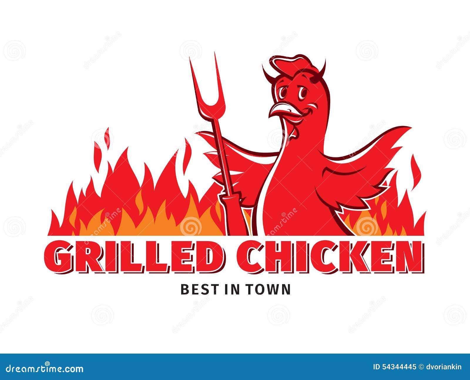 κοτόπουλο που ψήνεται στη σχάρα