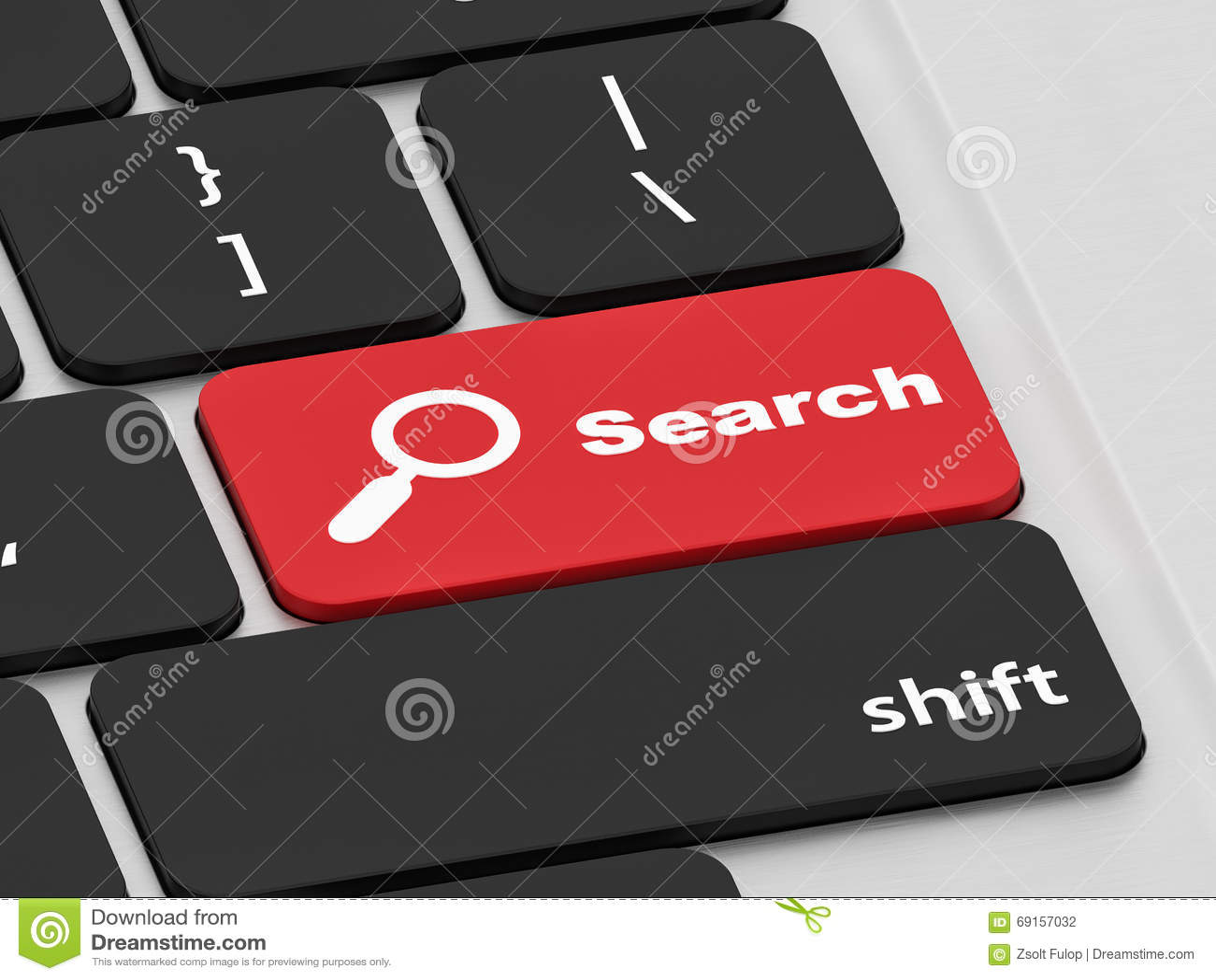 Κουμπί αναζήτησης σε ένα πληκτρολόγιο