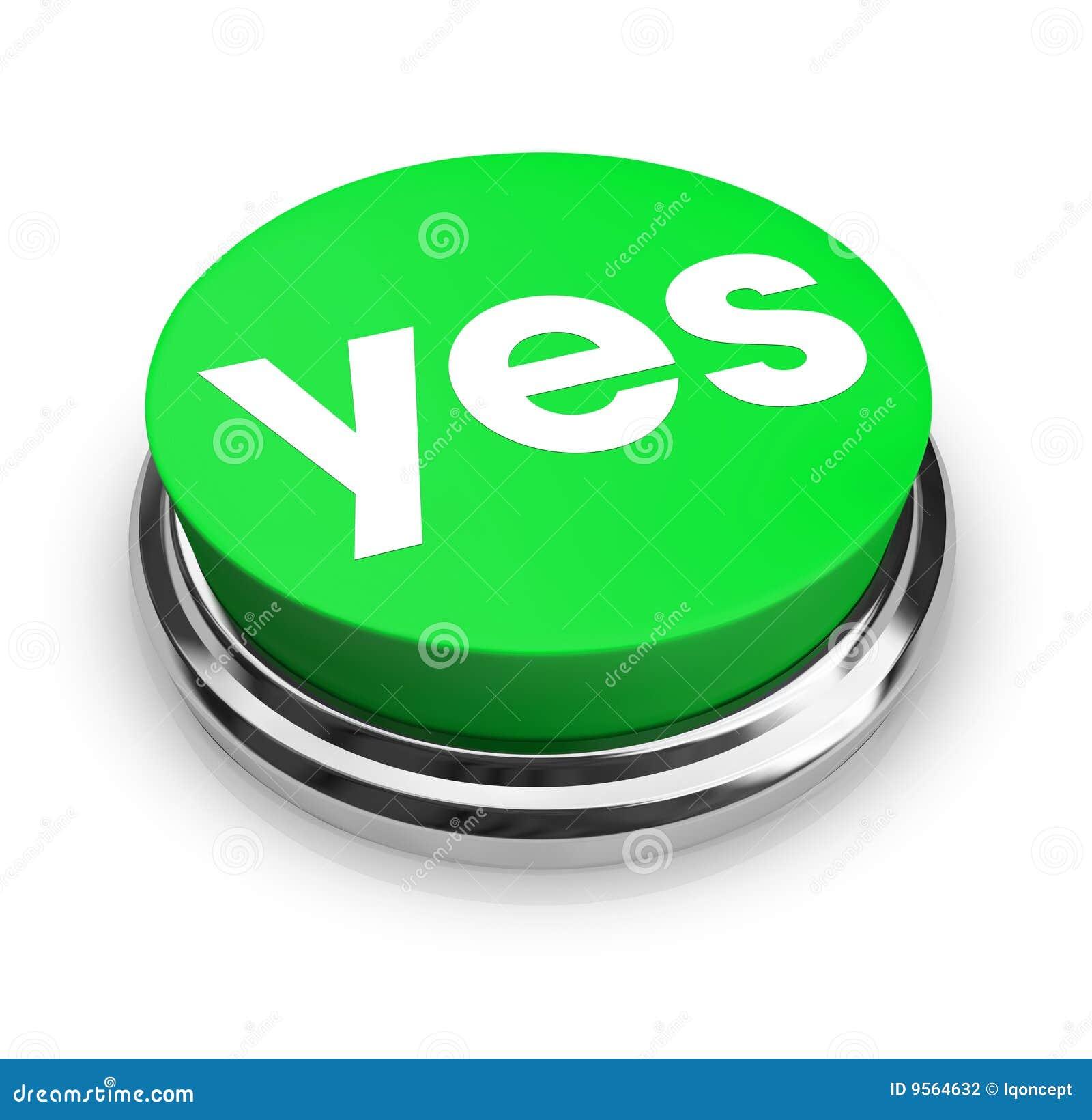 κουμπί πράσινο ναι