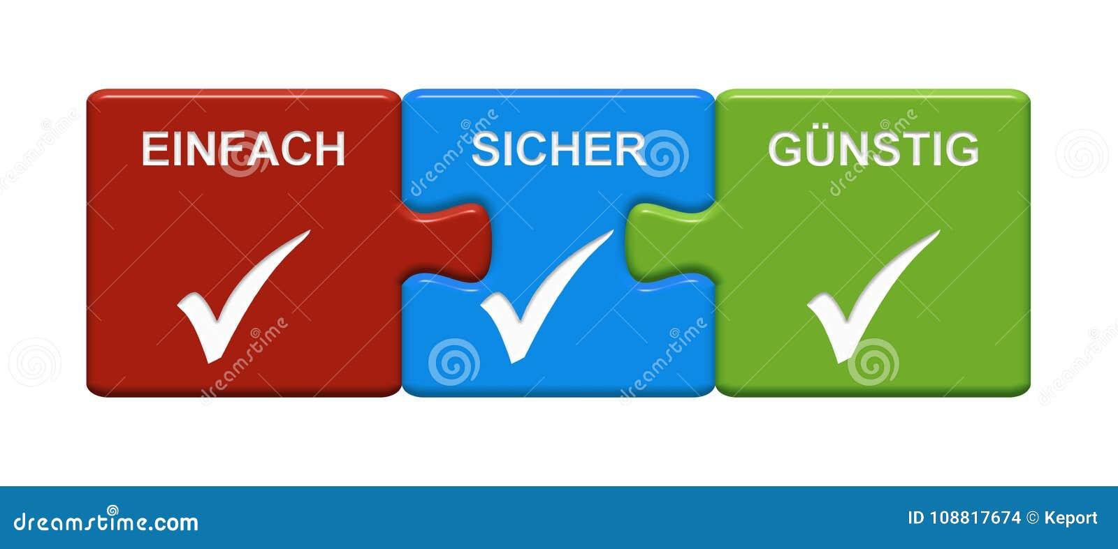 3 κουμπιά γρίφων που παρουσιάζουν εύκολα ασφαλή φτηνά γερμανικά