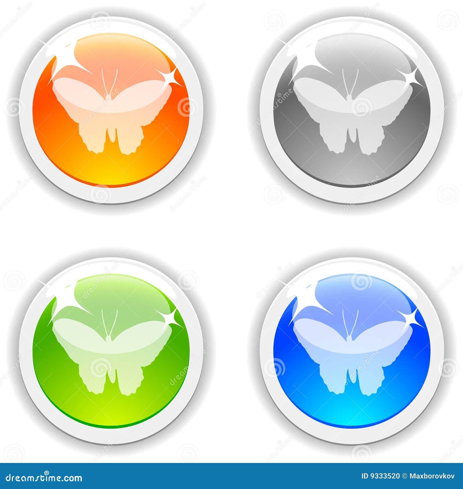 κουμπιά πεταλούδων