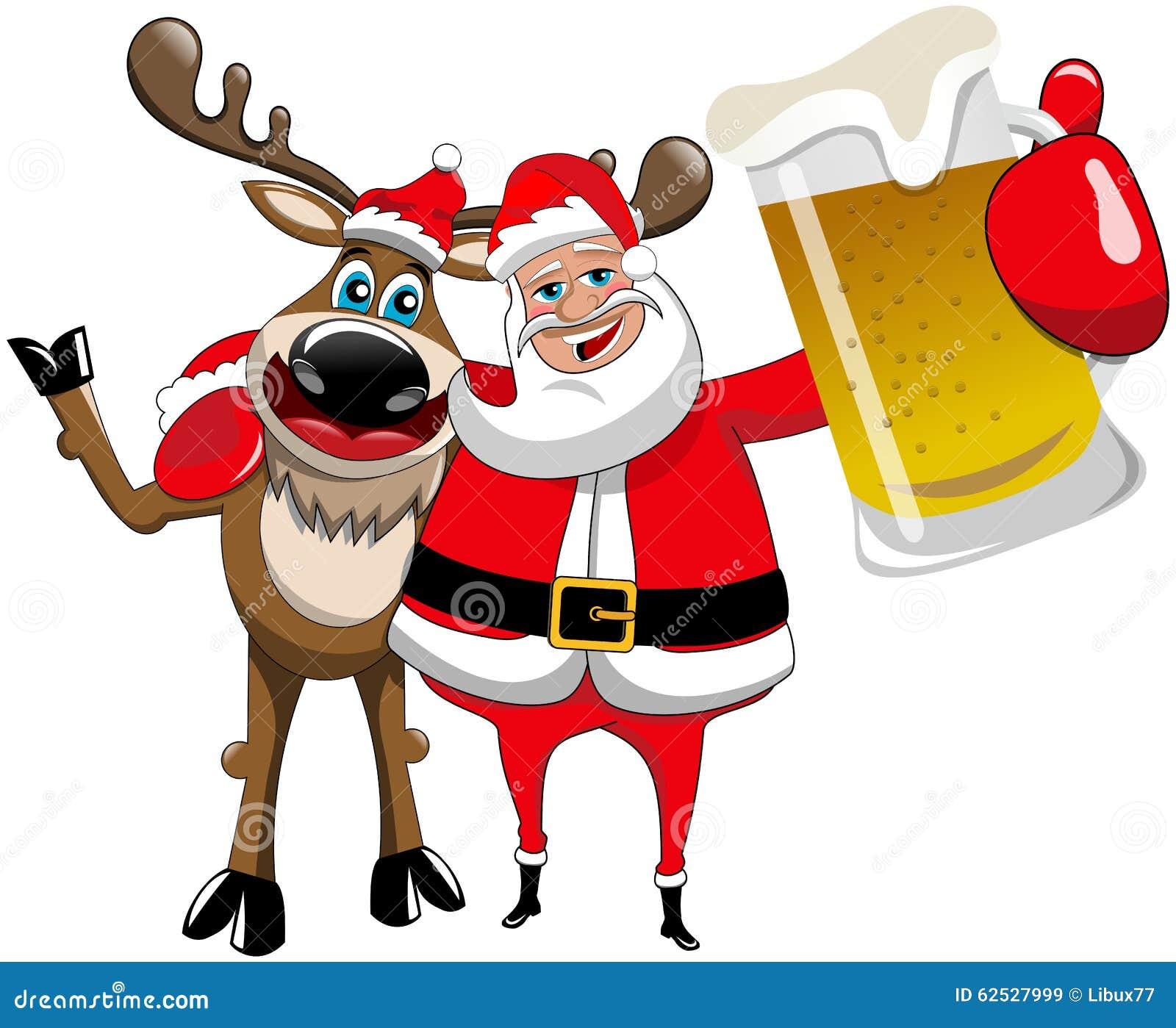 Κούπα μπύρας αγκαλιάσματος Άγιου Βασίλη Χριστουγέννων ταράνδων