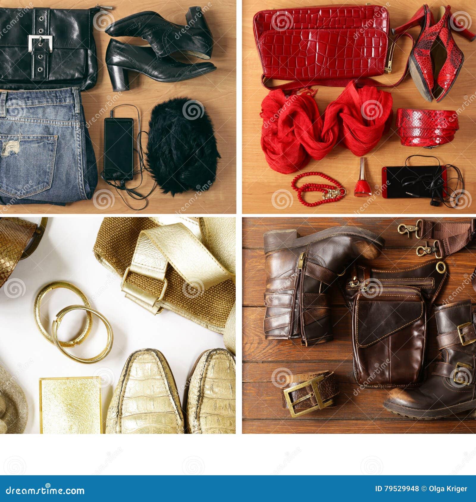 3922ef142d3 Κολάζ, καθορισμένα ενδύματα μόδας συνόλου περιστασιακά - τζιν, παπούτσια,  εξαρτήματα. Περισσότερες παρόμοιες στοκ εικόνες